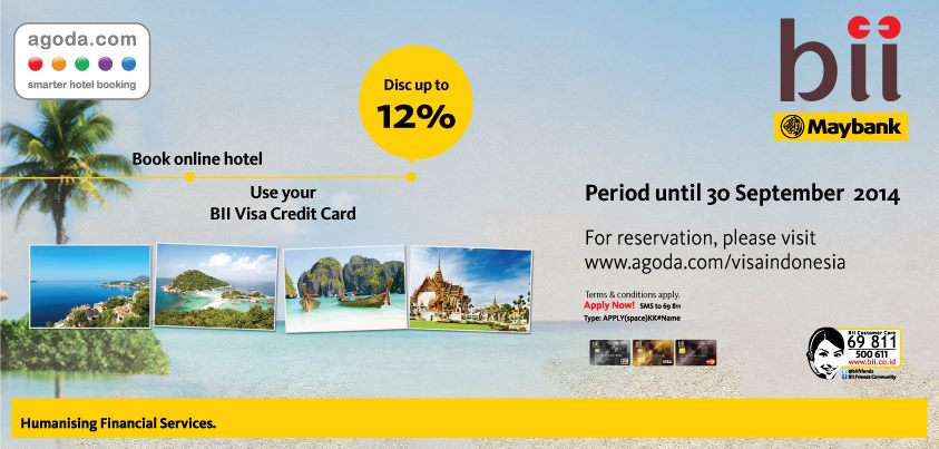 Diskon Hingga 12 Di Agoda Com Promo Kartu Kredit Bii Maybank