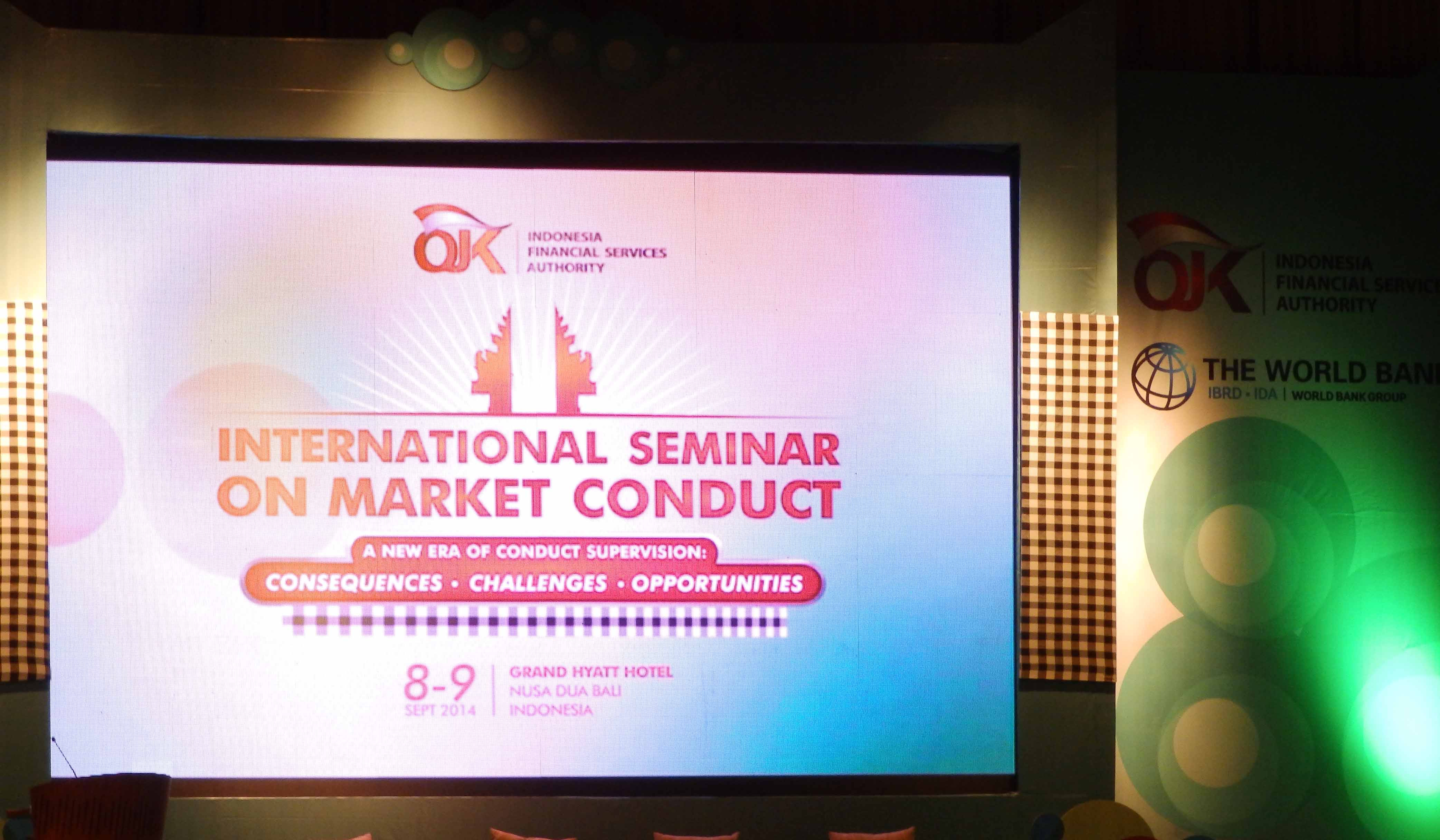International Seminar on Market Conduct: OJK Terus Tingkatkan Edukasi ke Konsumen