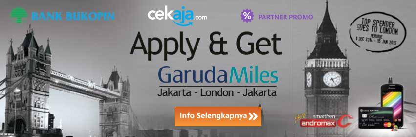 Promo Bank Credit Card Bukopin: Apply and Get Garuda Miles