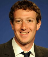Mark Zuckerberg, Founder & CEO of Facebook, at the press confere