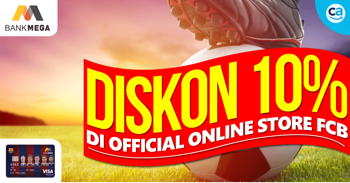Promo Mega Barça Card : Diskon 10%  di Official Online Store FCB