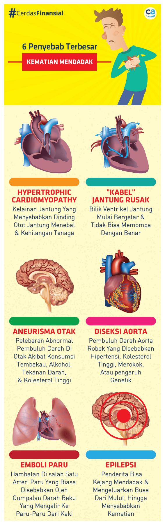 infografis penyakit penyebab terbesar kematian - CekAja.com