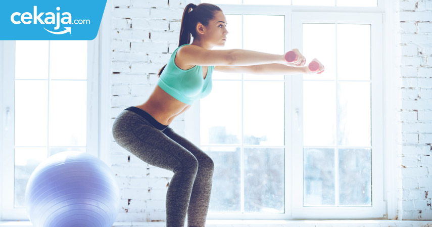 tips badan seksi dengan squat - CekAja.com