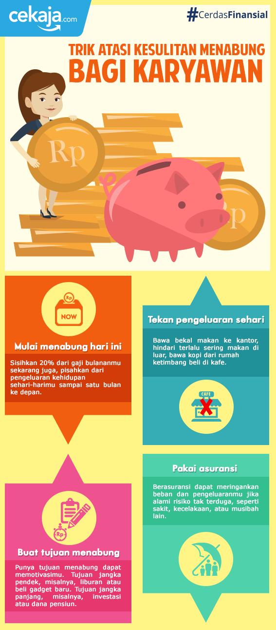 infografis-trik menabung - CekAja.com