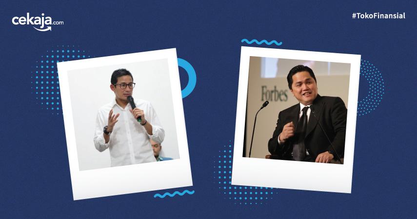 Sepak Terjang Sandiaga Uno dan Erick Thohir di Dunia Bisnis Serta Politik