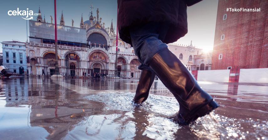 Kota Venice Banjir, Pemerintah Setempat Rugi 1 Miliar Euro