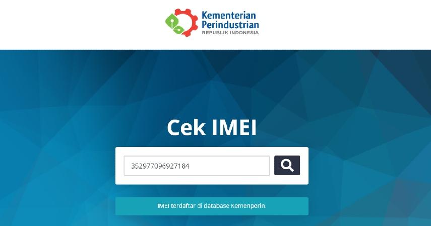 Cek nomor IMEI