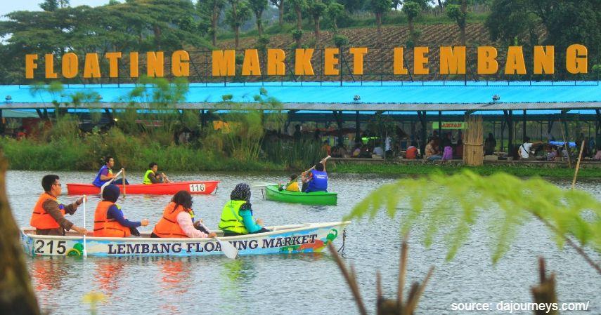 Floating market lembang - Tempat Wisata Paling Banyak Dikunjungi di Bandung dan Sekitarnya
