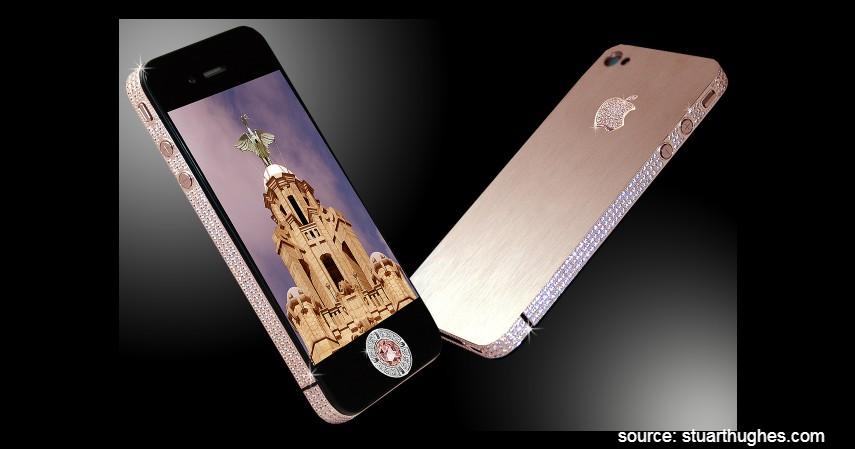 Stuart Hughes iPhone 4 Diamond Rose Edition - 10 HP Termahal di Dunia yang Harganya Bikin Melongo