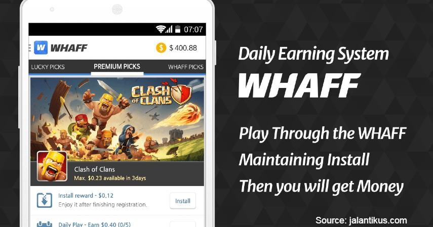 Whaff Rewards - Aplikasi Penghasil Uang Tercepat dan Terbaik Tanpa Modal 2019