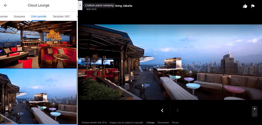 Cloud Lounge & Dining - Deretan Restoran Romantis untuk Dinner di Jakarta