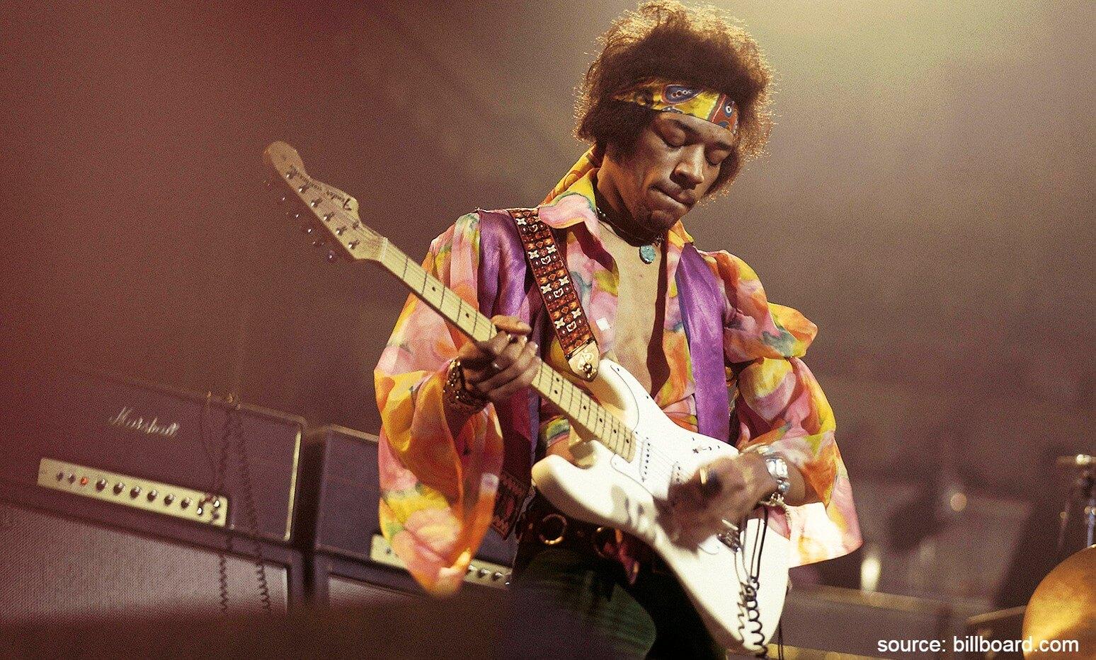 Jimi Hendrix - 8 Musisi Internasional yang Meninggal Karena Narkoba
