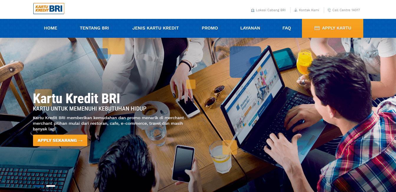 Melalui Situs Resmi Bank BRI - Daftar Situs dan Tata Cara Apply Kartu Kredit Online