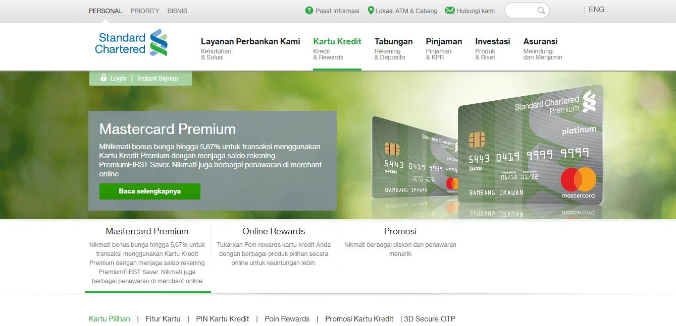 Melalui Situs Standard Chartered Bank - Daftar Situs dan Tata Cara Apply Kartu Kredit Online