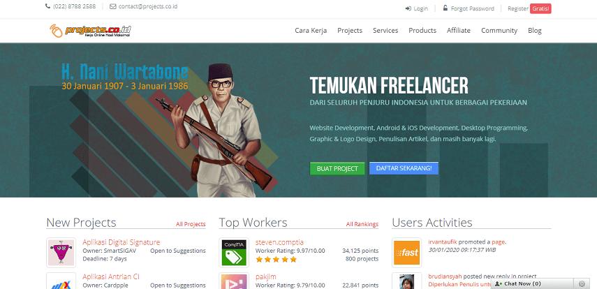 Projects - Situs Freelance Terbaik 2020 di Indonesia