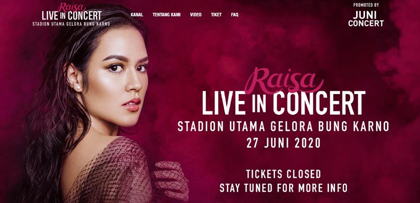Raisa Live in Concert - Ini Dia Jadwal Konser Musik 2020 yang Paling Ditunggu