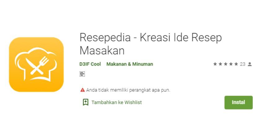 Resepedia - Aplikasi Masak Terbaik Untuk iPhone dan Android Gratis!