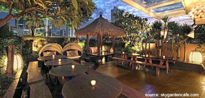 Sky Garden Cafe - Deretan Restoran Romantis untuk Dinner di Jakarta