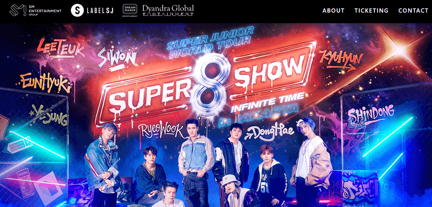 Super Junior World Tour - Super Show 8 Infinite Time - Ini Dia Jadwal Konser Musik 2020 yang Paling Ditunggu
