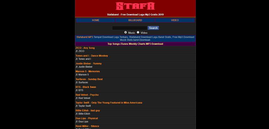 Stafaband - Daftar Situs Download Lagu Gratis, Gak Perlu Streaming Lagi