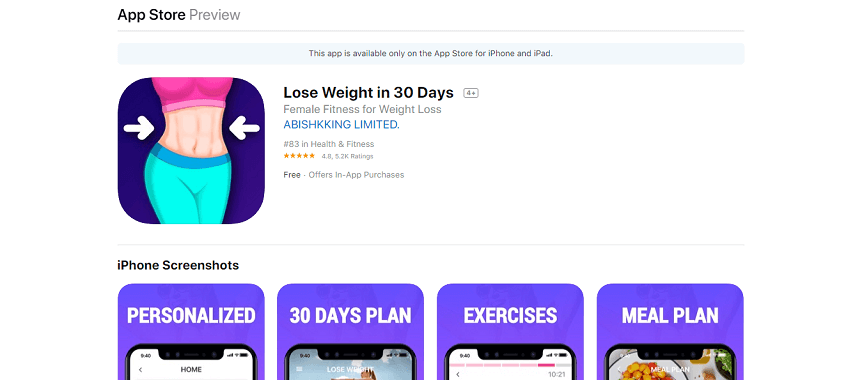 Lose Weight in 30 Days - Aplikasi Fitness Terbaik 2020, Bisa Olahraga Kapan Saja, di Mana Saja