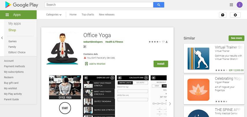 Office Yoga - Aplikasi Fitness Terbaik 2020, Bisa Olahraga Kapan Saja, di Mana Saja