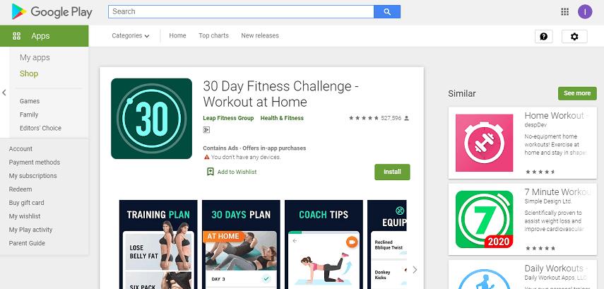 30 Days Fitness Challenge - Aplikasi Fitness Terbaik 2020, Bisa Olahraga Kapan Saja, di Mana Saja