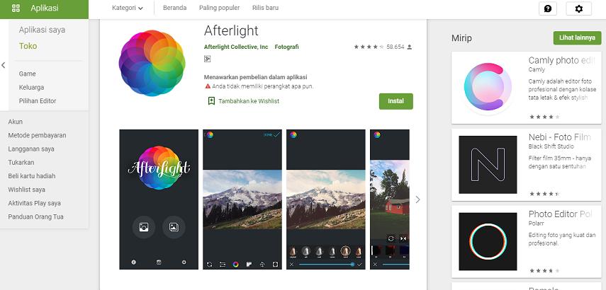 Afterlight - Aplikasi Edit Foto Instagram Terbaik untuk Mempercantik Feed