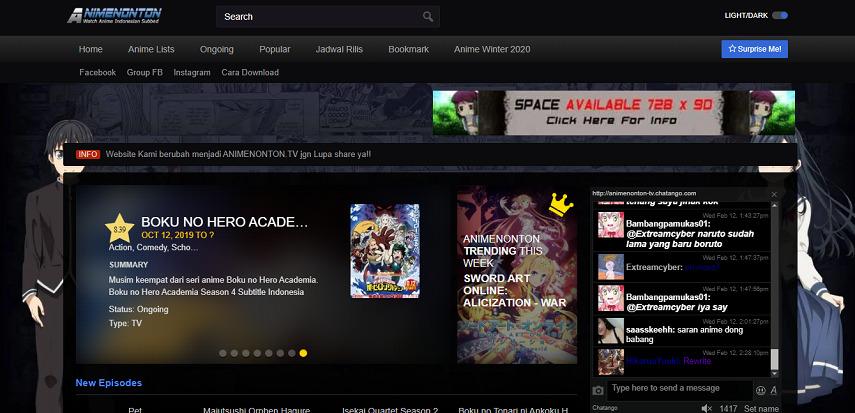 Animenonton - Website Nonton Anime Sub Indonesia Terbaik Sepanjang Masa
