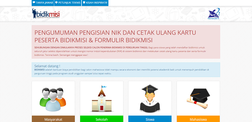 Beasiswa Bidikmisi - 3 Jenis Beasiswa Masuk Universitas Negeri