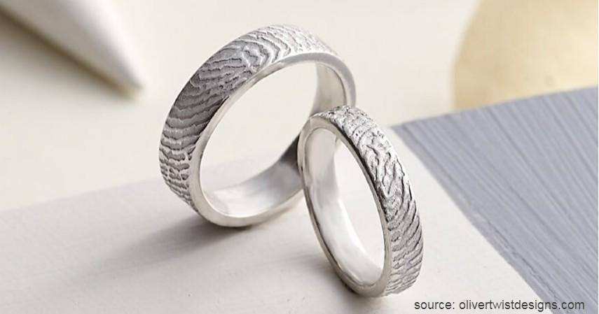 Cincin Fingerprint - Tren Model Cincin Pernikahan 2020