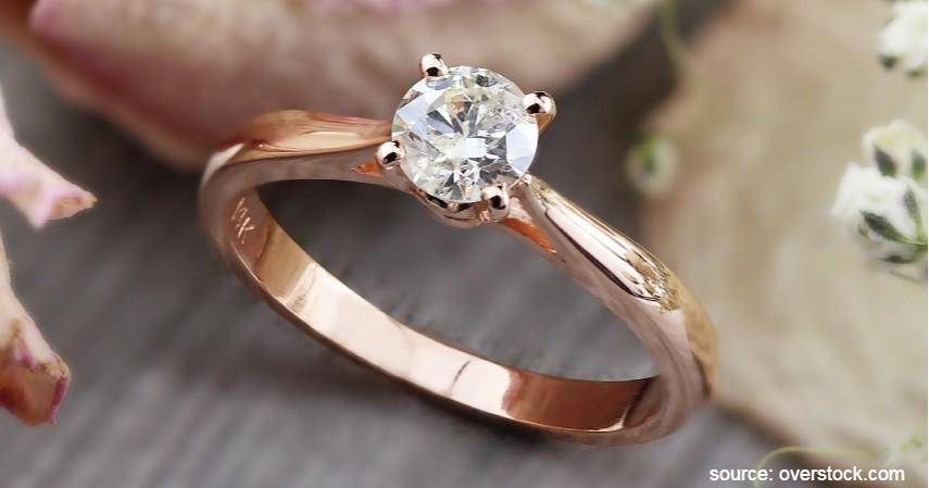 Cincin Rose Gold - Tren Model Cincin Pernikahan 2020