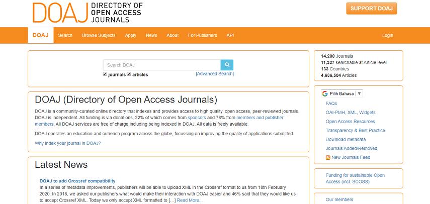 DOAJ - 10 Situs Jurnal untuk Skripsi bagi Kamu Para Pejuang Semester Akhir
