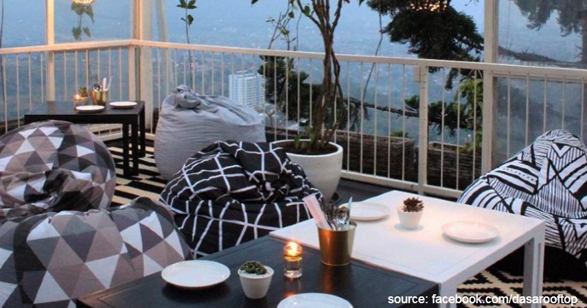 Dasa Rooftop - 10 Tempat Makan Romantis di Bandung Murah Mulai 50 Ribu-an