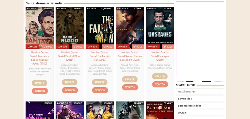 Drama Serial - Situs Nonton Drama India Lawas hingga Terbaru Subtitle Indonesia
