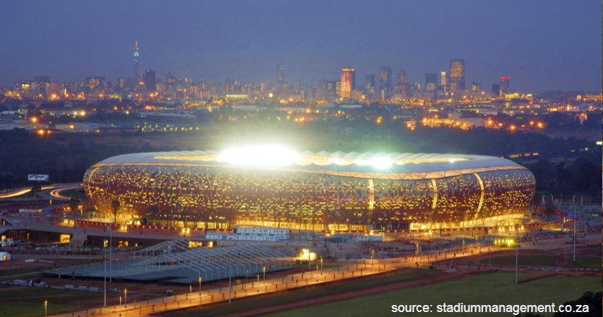 FNB Soccer City Afrika Selatan - 9 Stadion Sepak Bola Terbesar di Dunia