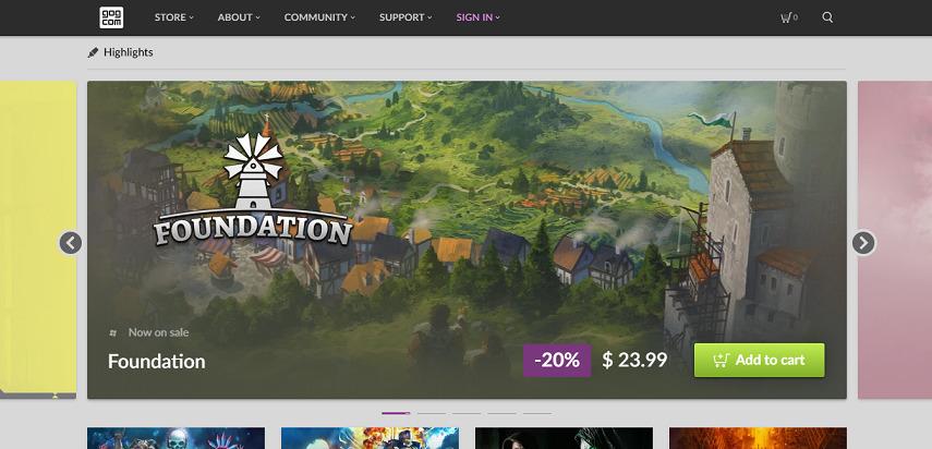 GOG - 15 Situs Download Game PC Dari Game Lawas hingga Game Indie