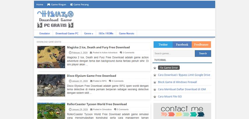Hienzo - 15 Situs Download Game PC Dari Game Lawas hingga Game Indie