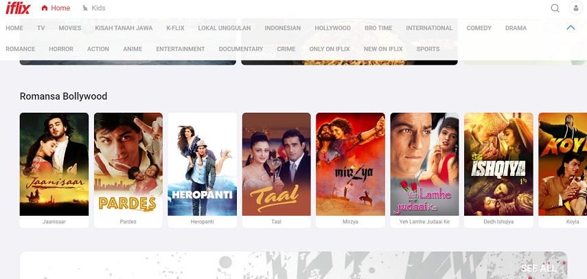Iflix - Situs Nonton Drama India Lawas hingga Terbaru Subtitle Indonesia