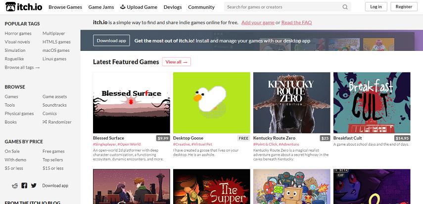 Itch io - 15 Situs Download Game PC Dari Game Lawas hingga Game Indie