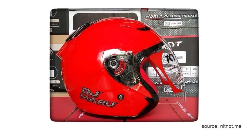 KYT DJ Maru - 9 Rekomendasi Helm Termurah dengan Kualitas Baik