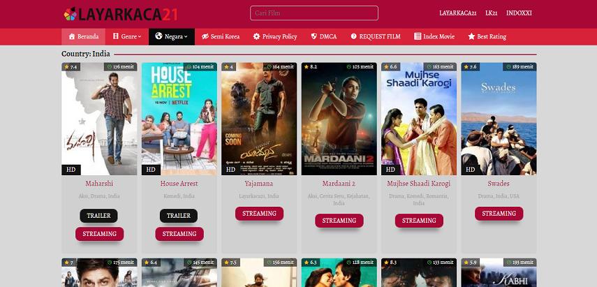 LayarKaca21 - Situs Nonton Drama India Lawas hingga Terbaru Subtitle Indonesia
