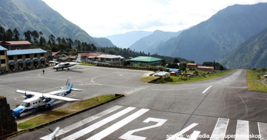 Lukla Airport Nepal - Mengulas Lengkap 7 Bandara Paling Berbahaya di Dunia