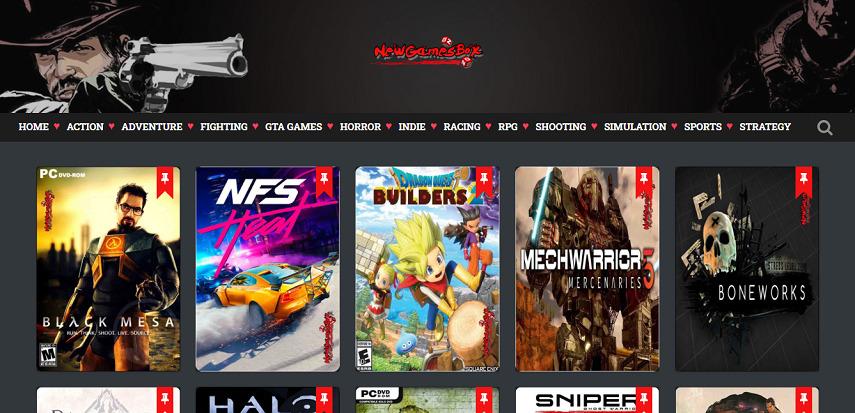 Newgamesbox - 15 Situs Download Game PC Dari Game Lawas hingga Game Indie