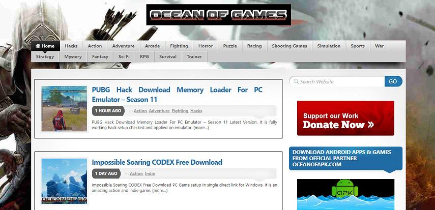 Ocean of Games - 15 Situs Download Game PC Dari Game Lawas hingga Game Indie