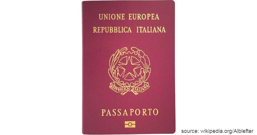Paspor Italia dengan 188 negara - Paspor Terkuat dan Terlemah di Dunia Tahun 2020