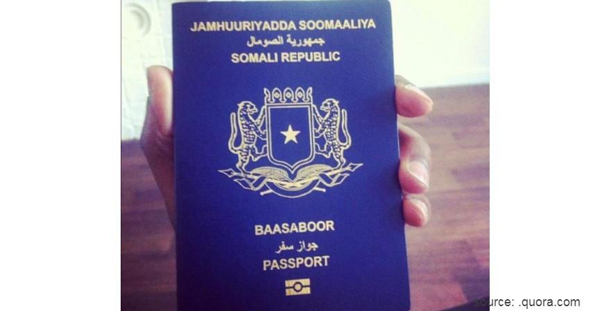 Paspor Somalia dengan 32 negara - Paspor Terkuat dan Terlemah di Dunia Tahun 2020