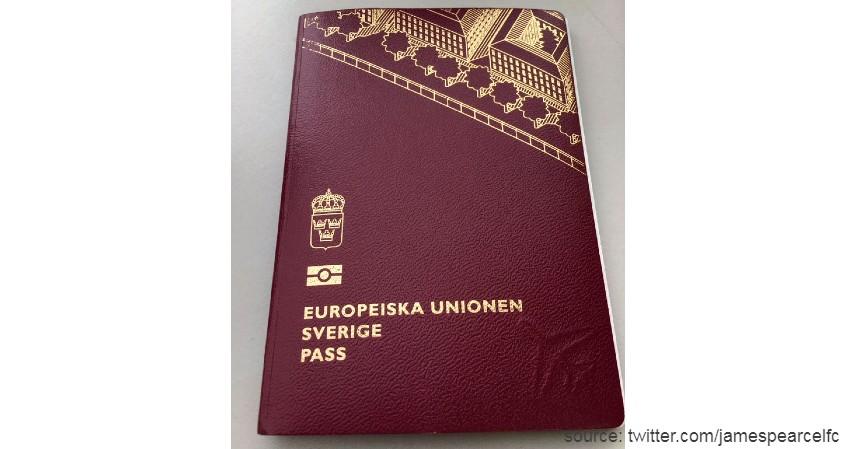 Paspor Swedia dengan 186 negara - Paspor Terkuat dan Terlemah di Dunia Tahun 2020