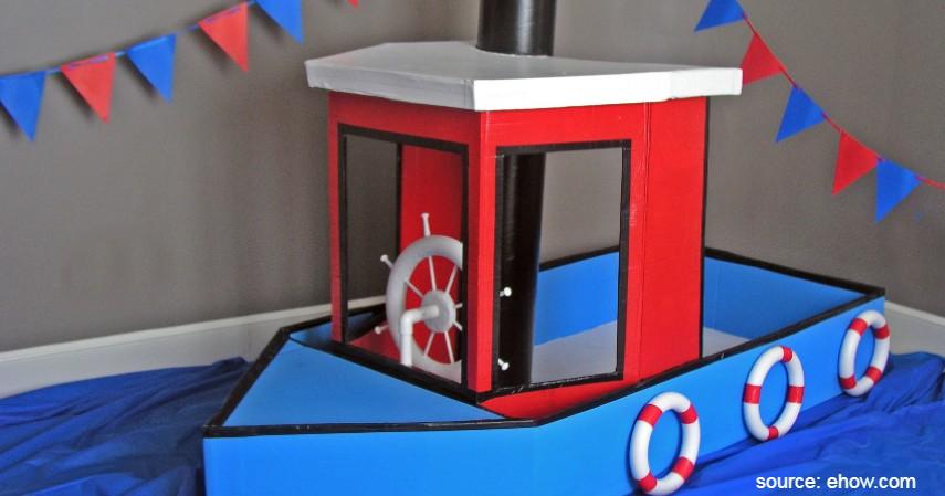 Perahu dari Kotak Susu - Sederet Ide Mainan Edukasi Anak yang Asah Motorik dan Kreativitas