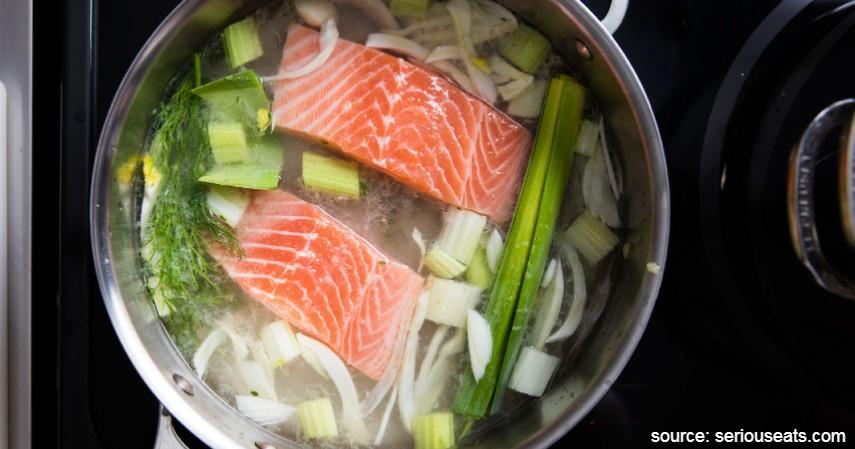 Salmon Direbus - Resep Masakan Berbahan Dasar Salmon yang Mudah Dibuat dan Enak